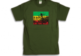 Cotton T-Shirt Rasta Garden